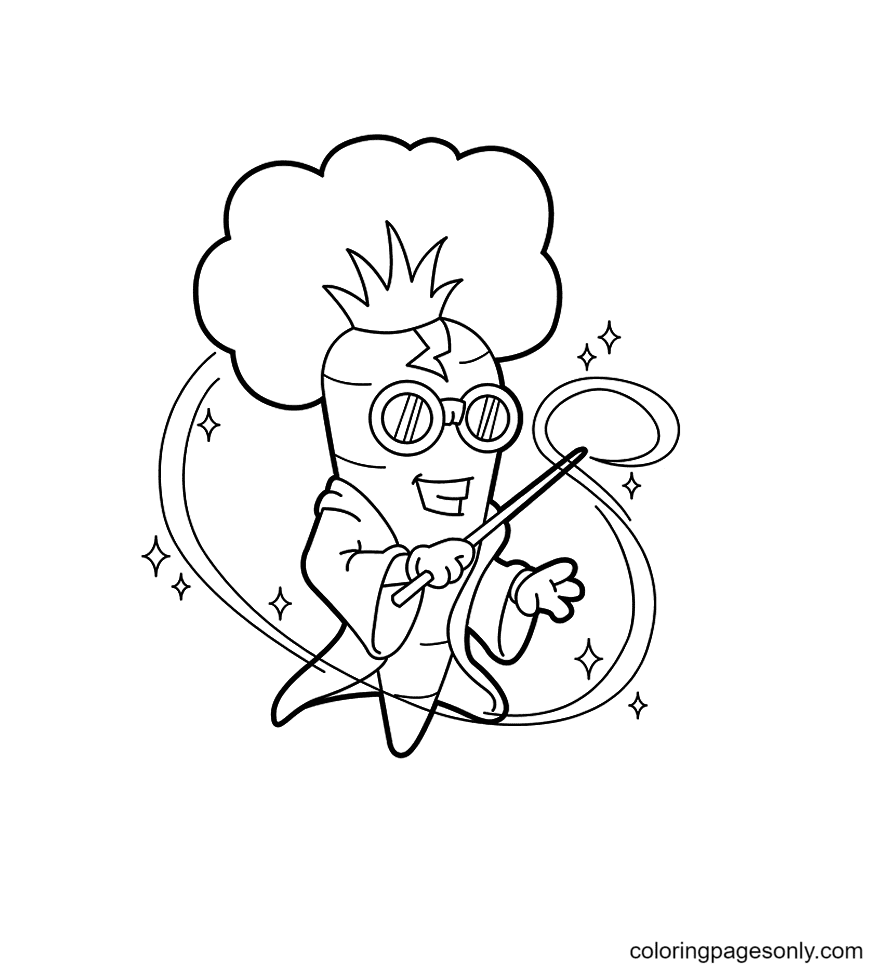 The Carrot the Magician Coloring Page