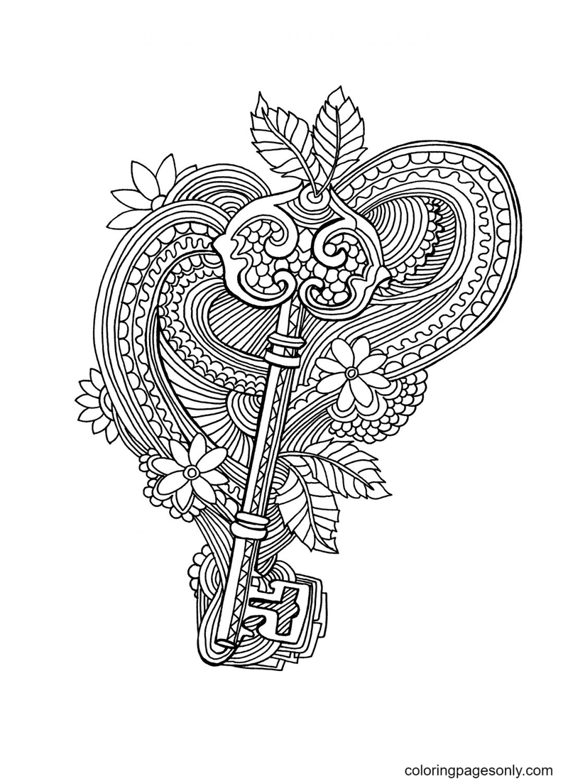 The Key Coloring Page