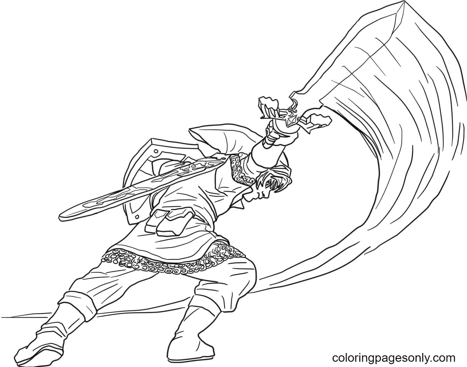 The Legend of Zelda Skyward Sword Coloring Page