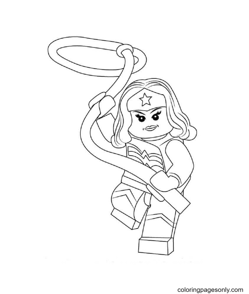 The Lego Lasso Coloring Page