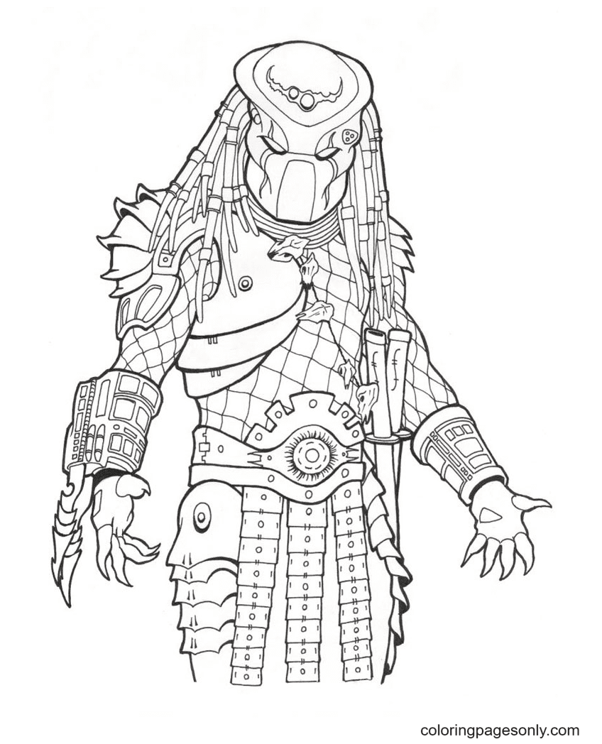 The Predator Coloring Page