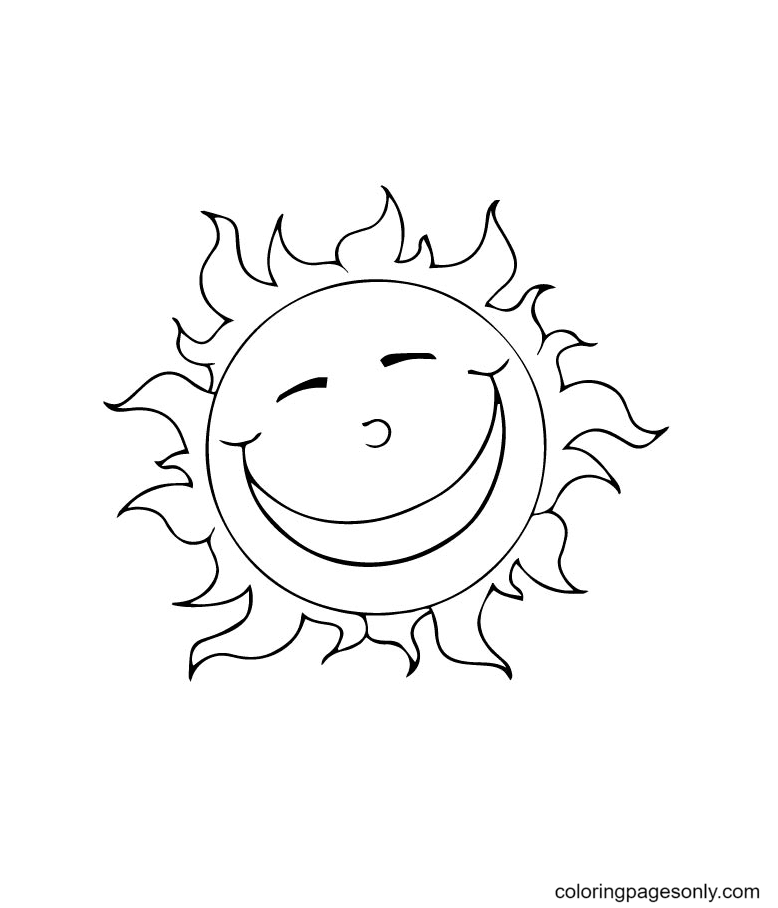 The Sweet And Happys Sun Coloring Page