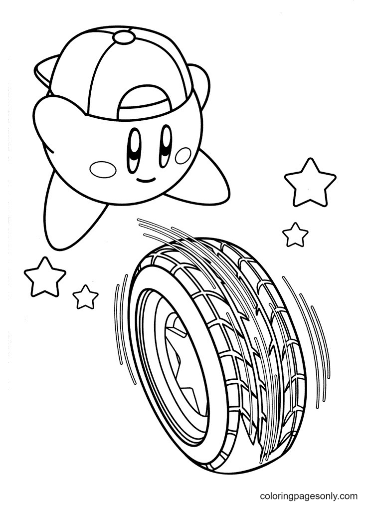 The guy Kirby interesting Coloring Page