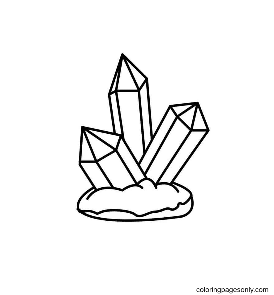 Three Crystals Coloring Page