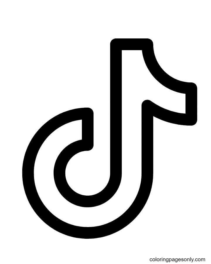 TikTok Icon Coloring Page