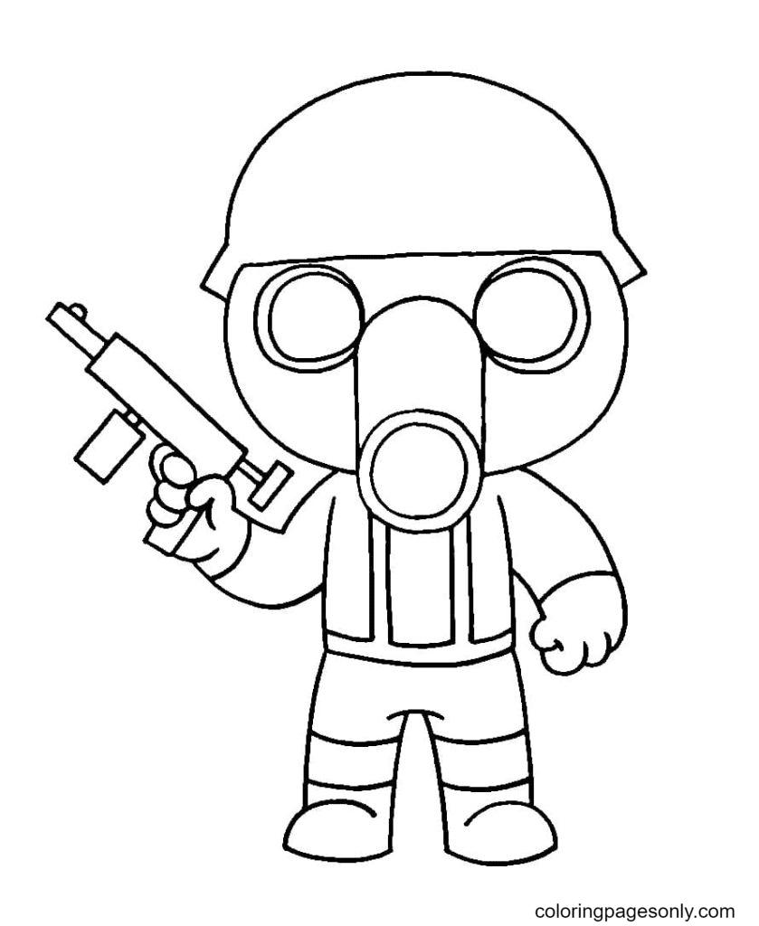 Torcher Piggy Roblox Coloring Page