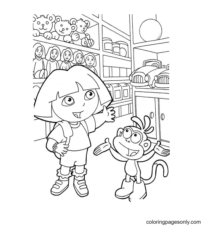 Toy Store Coloring Page