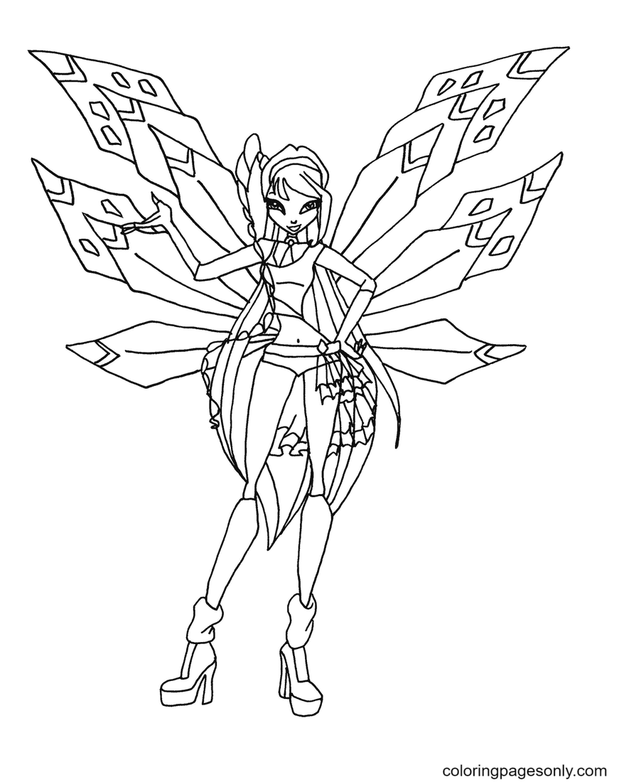 Tracix Musa Coloring Page