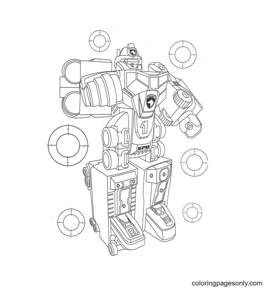 Transformer Ranger Coloring Page