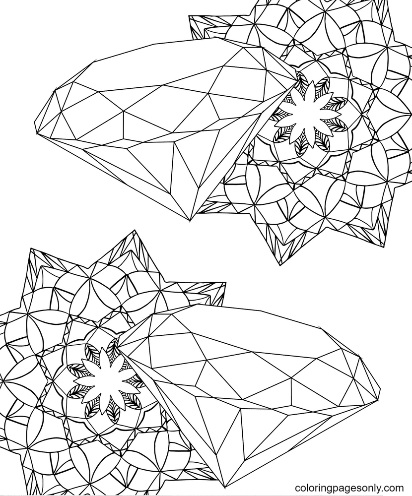 Two Diamond Coloring Page