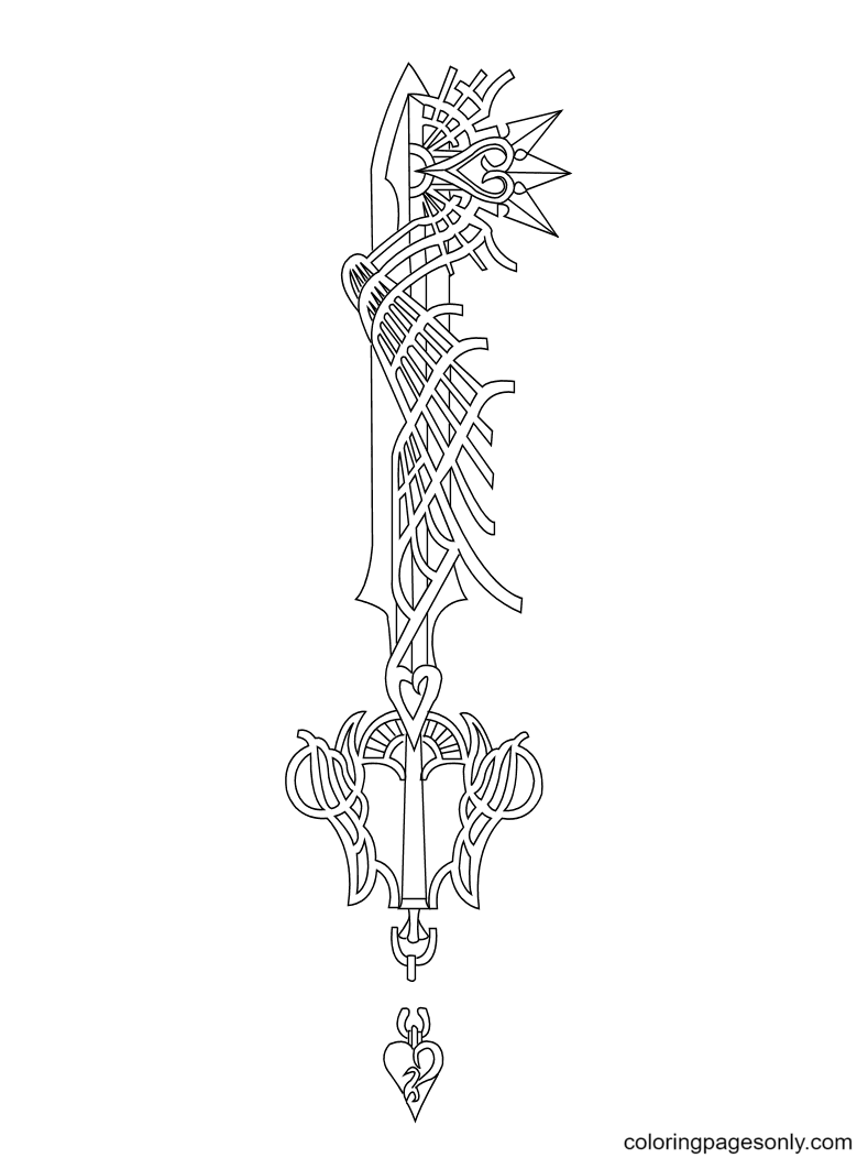 Ultima Weapon Key Coloring Page