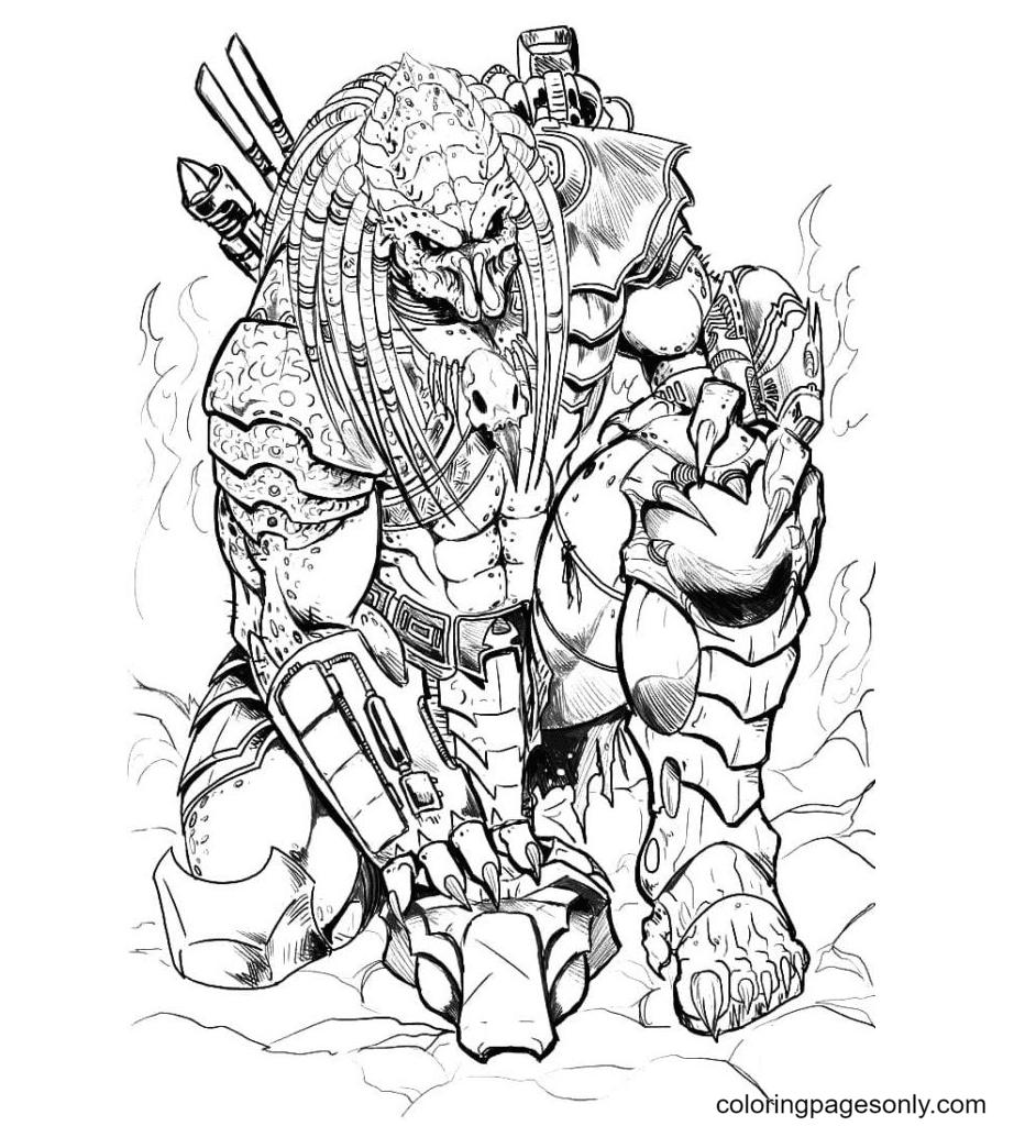 Ultimate Predator Coloring Page