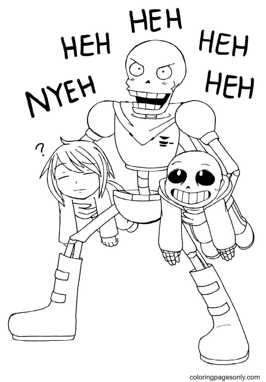 Undertale Papyrus Printable Coloring Page