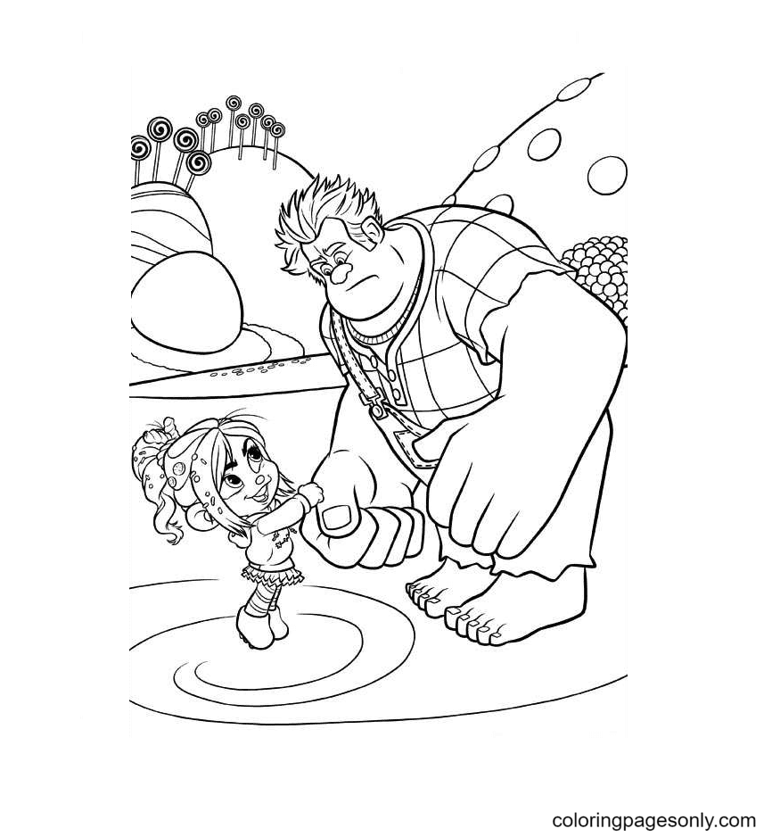 Vanellope And Ralph Coloring Page