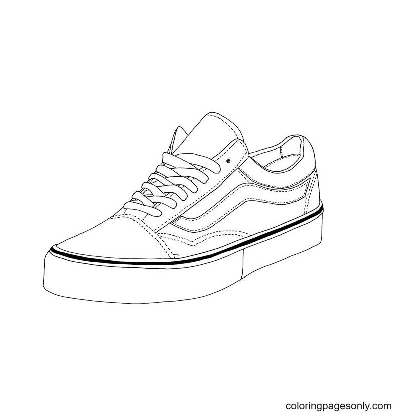 Vans Shoe Coloring Page
