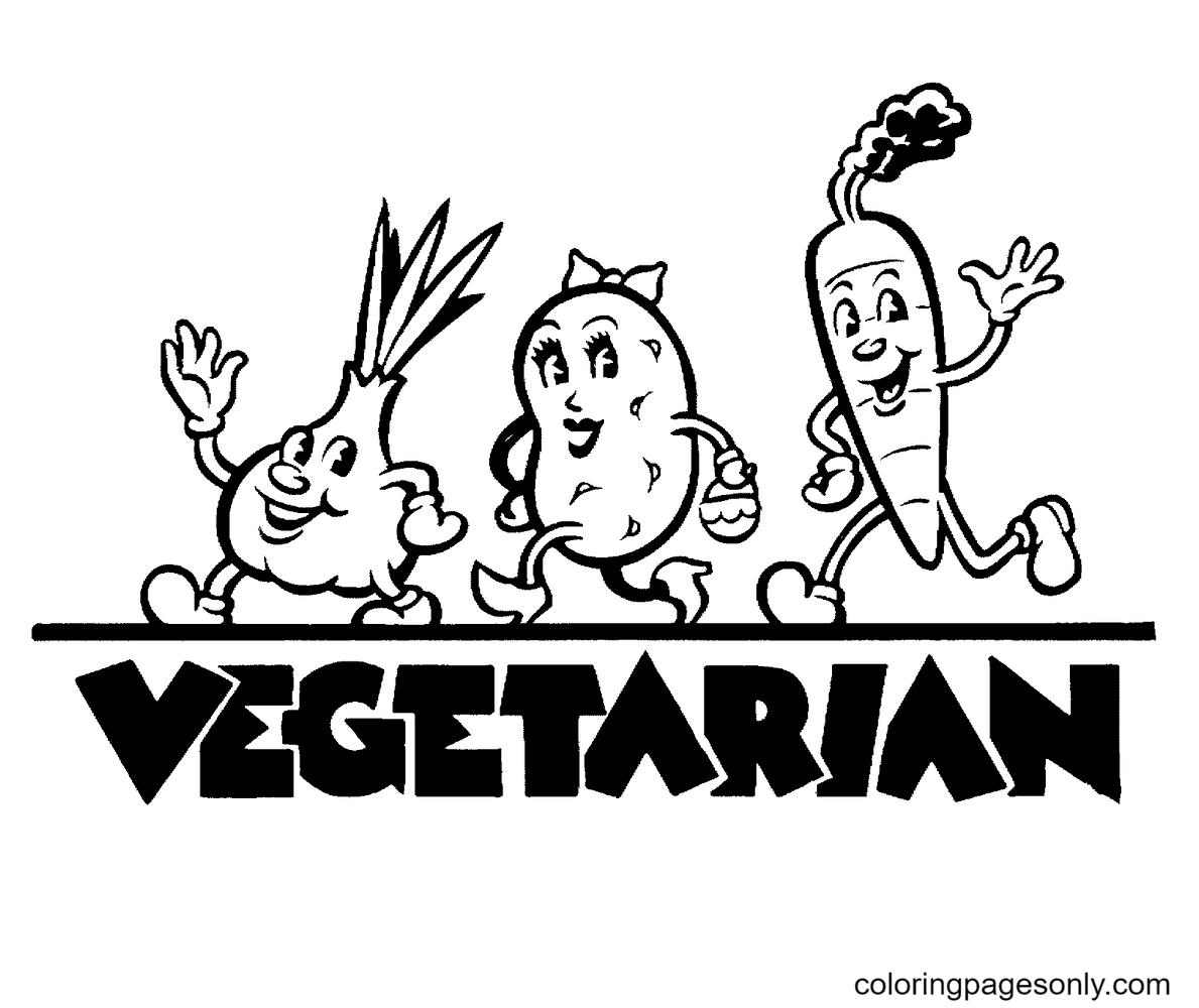 Vegetarian Coloring Page