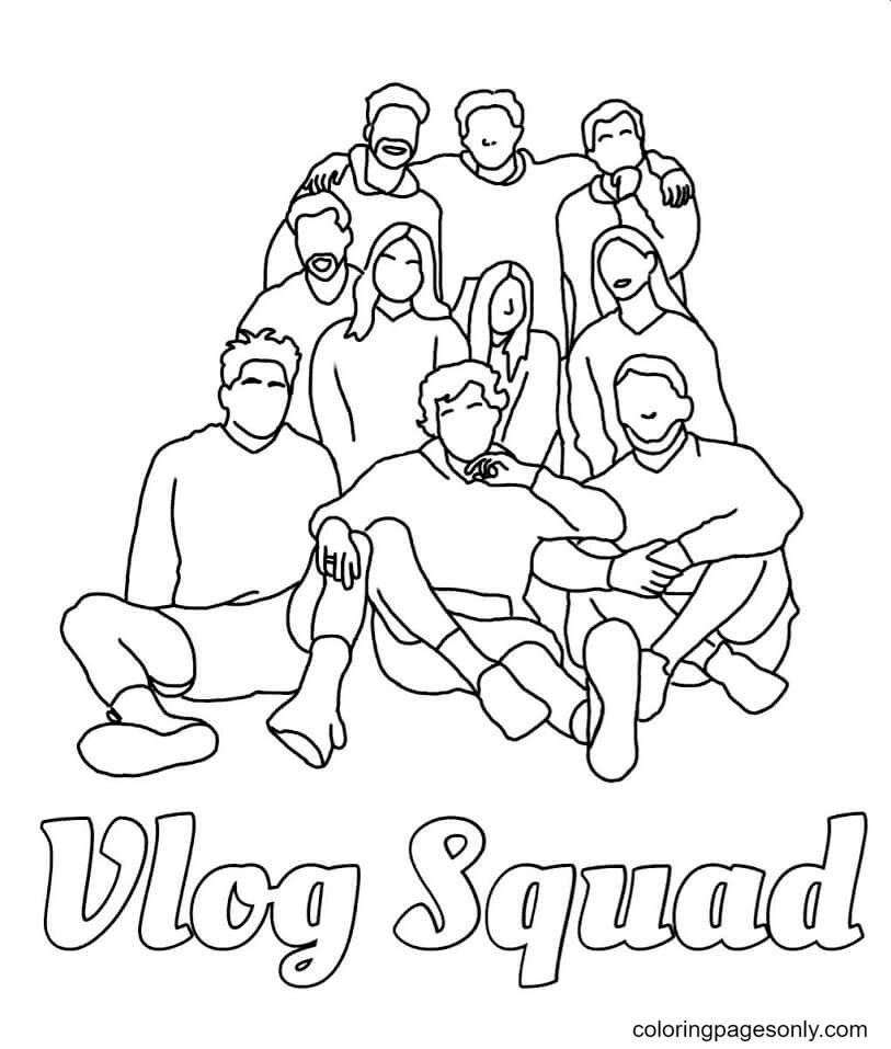 Vlog Squad TikTok Coloring Page