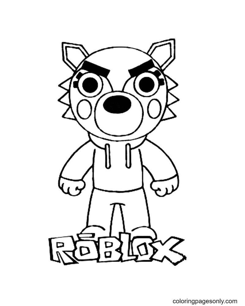 Willow Wolf Piggy Roblox Coloring Page