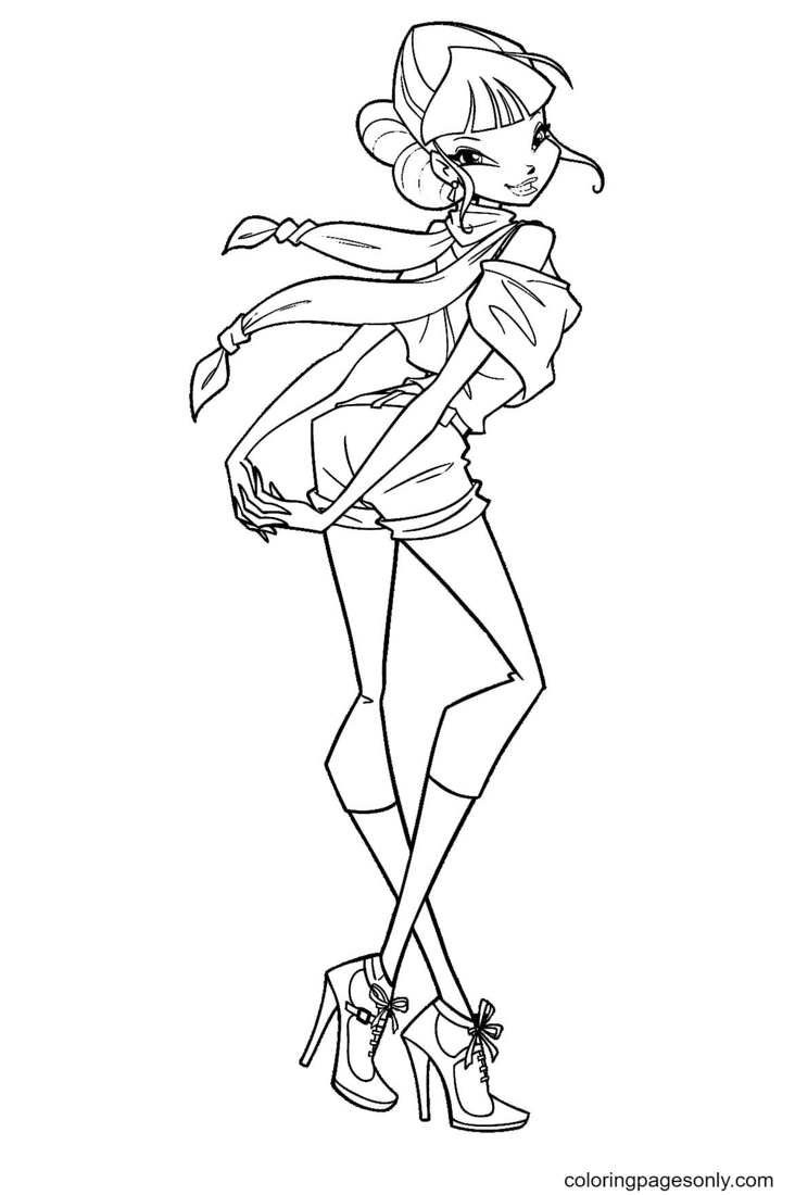 Winx Musa Coloring Page