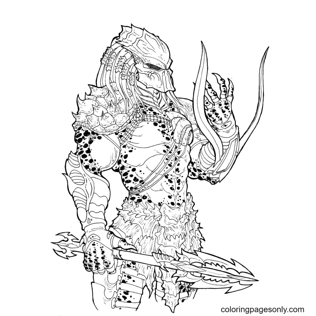 Wolf Predator Free Coloring Page