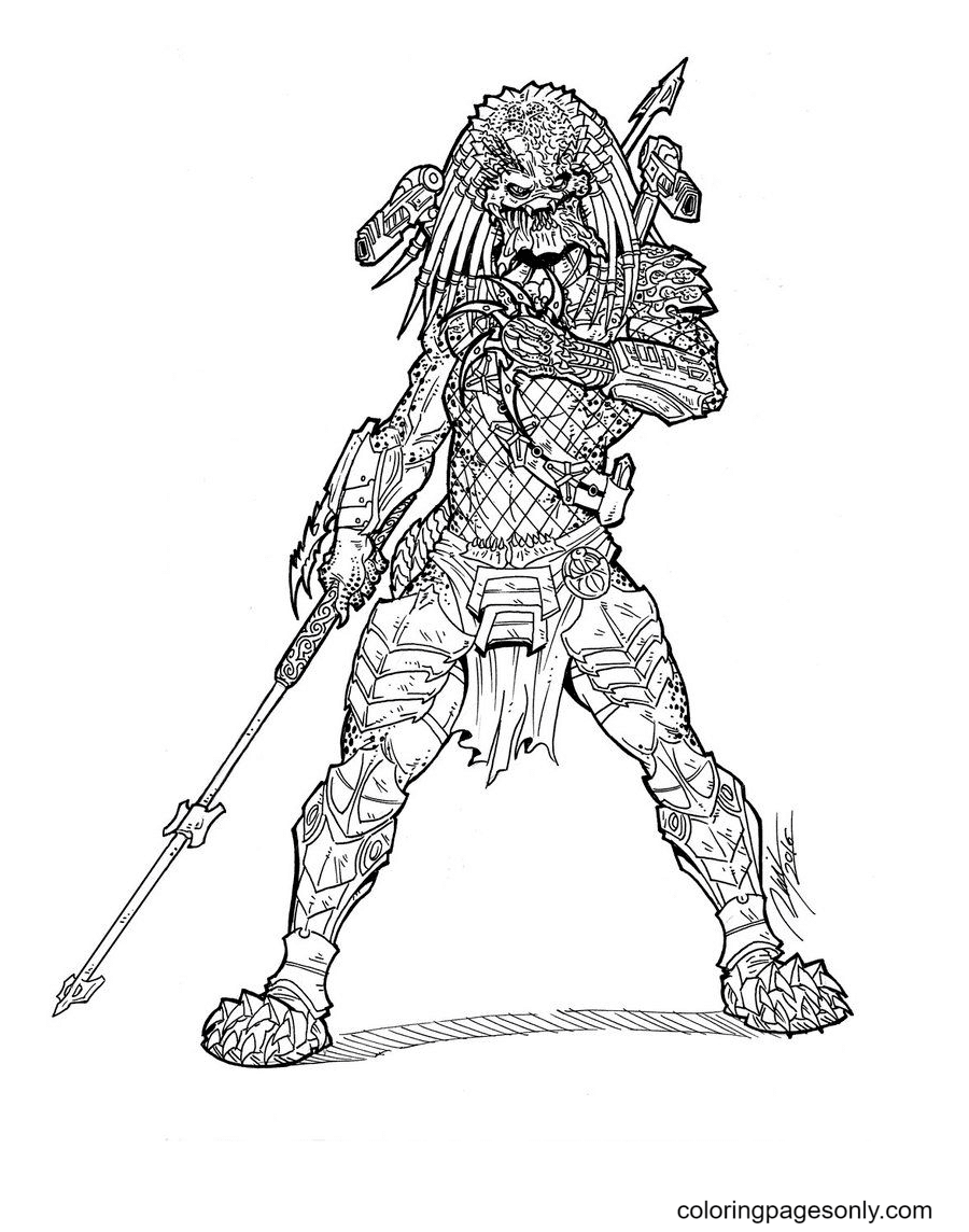Wolf Predator Coloring Page