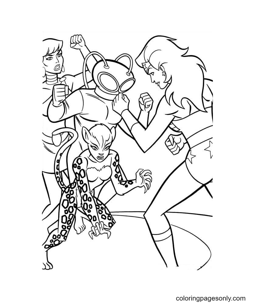 Wonder Woman And Her Nemesis Coloring Page