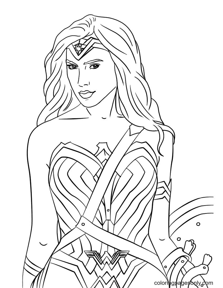 Wonder Woman Beautiful Coloring Page