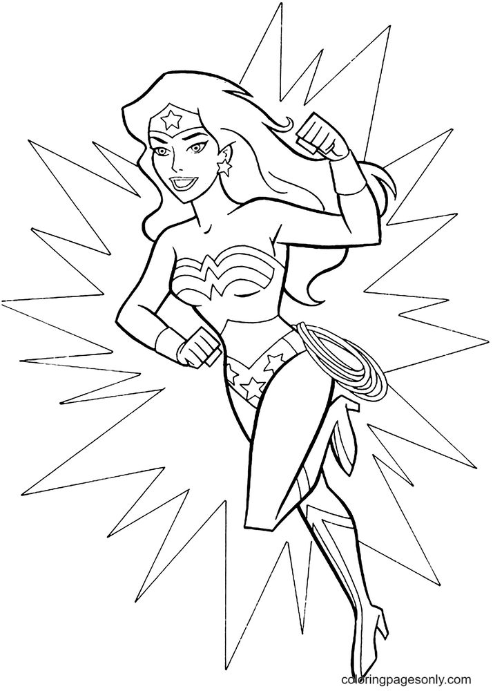 Wonder Woman Free Printable Coloring Page