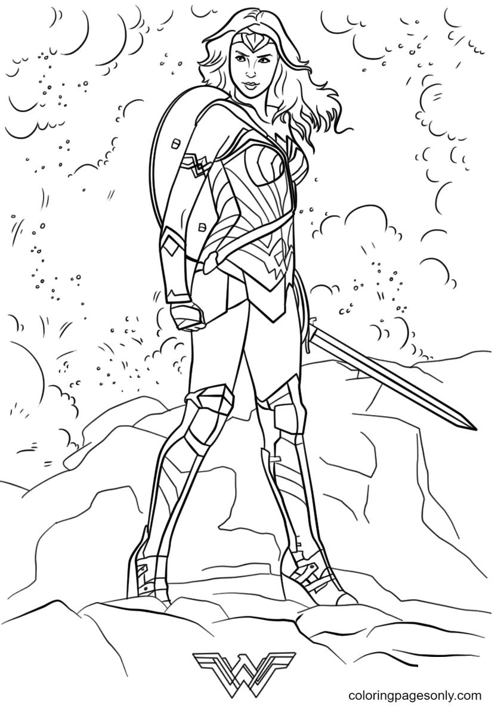 Wonder Woman Free Coloring Page