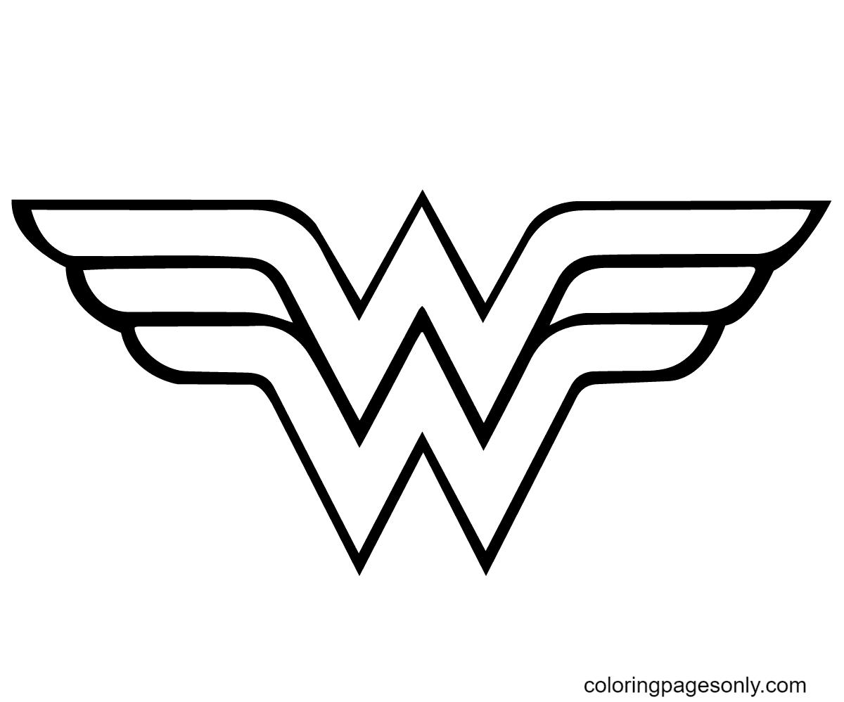Wonder Woman Logo Coloring Page