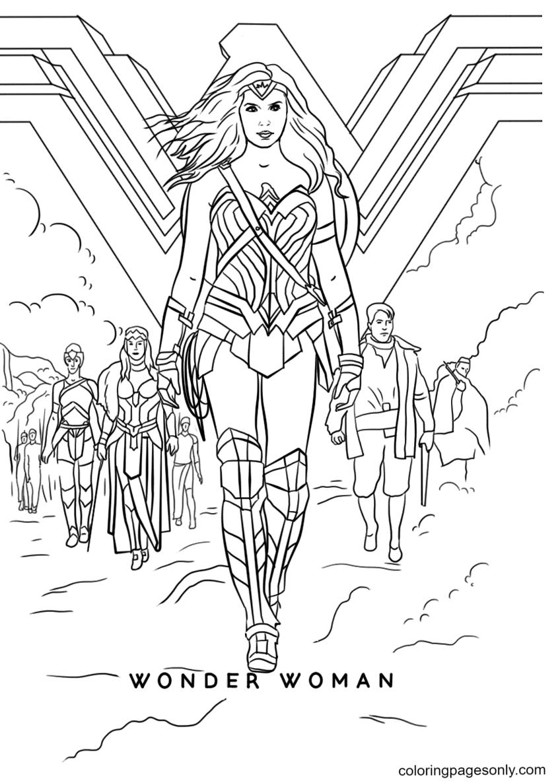 Wonder Woman Movie Coloring Page