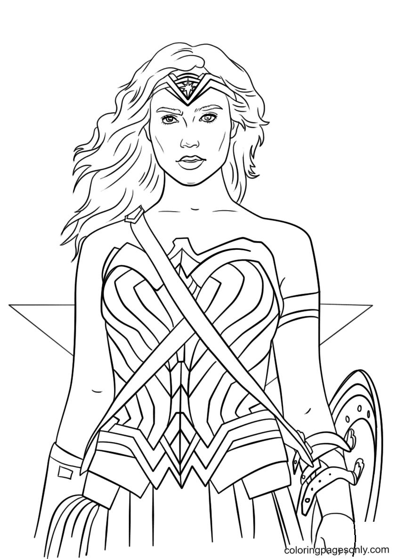 Wonder Woman Portrait Coloring Page