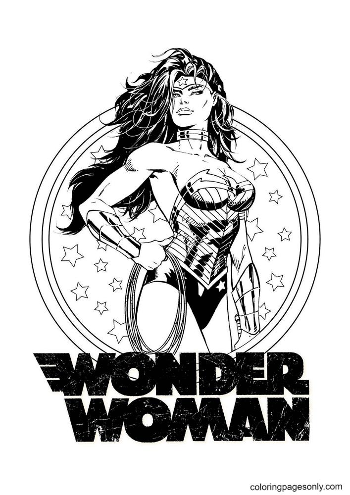 Wonder Woman Printable Coloring Page