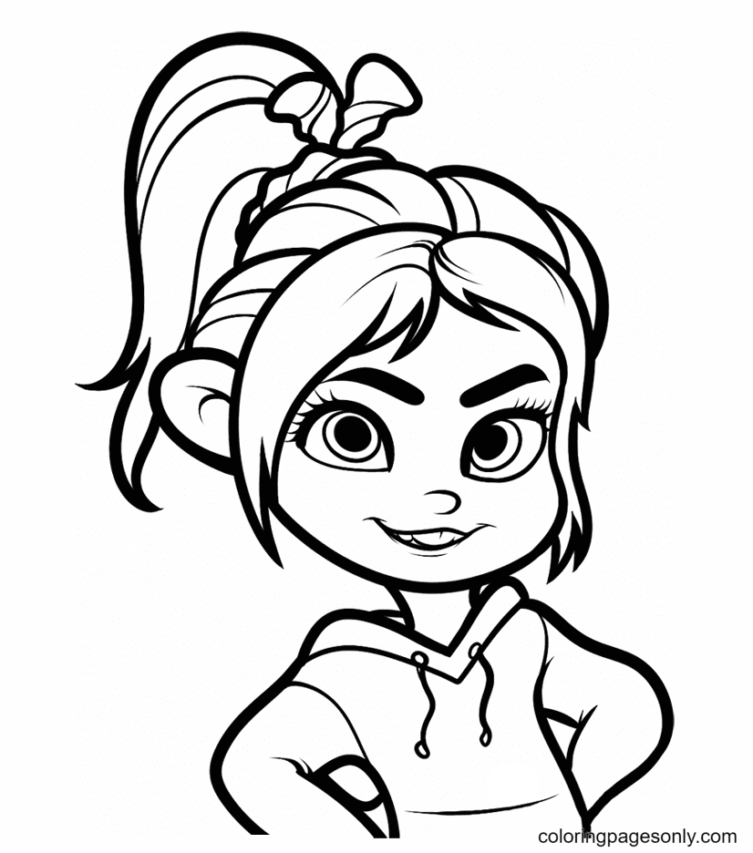 Wreck It Ralph Vanellope Coloring Page
