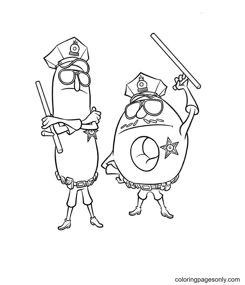 Wynnchel and Duncan Coloring Page