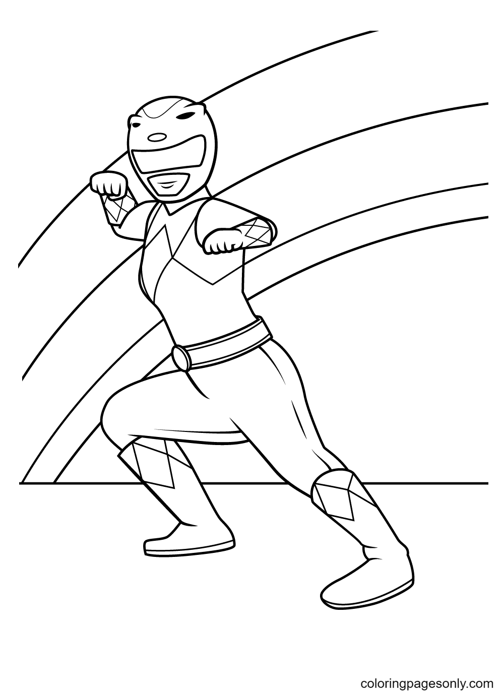 Yellow Ranger Coloring Page