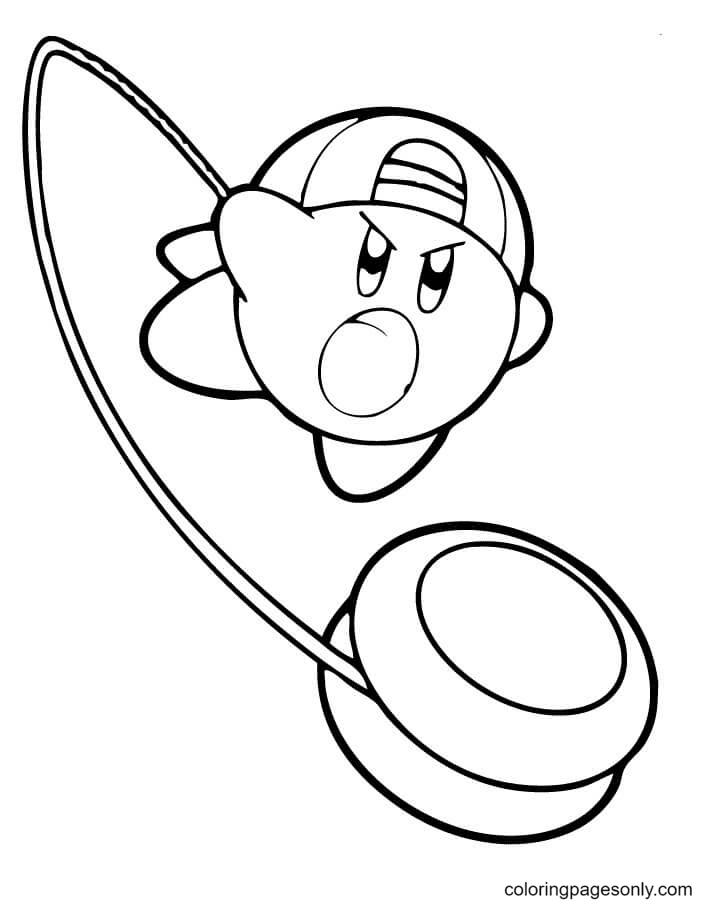 Yo-Yo Kirby Coloring Page