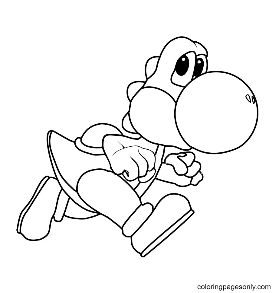 Yoshi sneaks Coloring Page