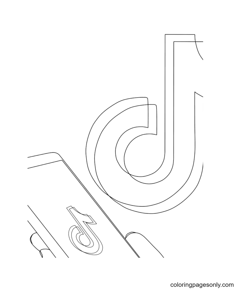 You downloaded TikTok Coloring Page