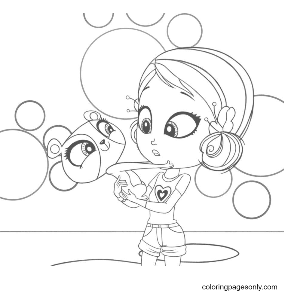 Youngmee and Penny Ling Coloring Page