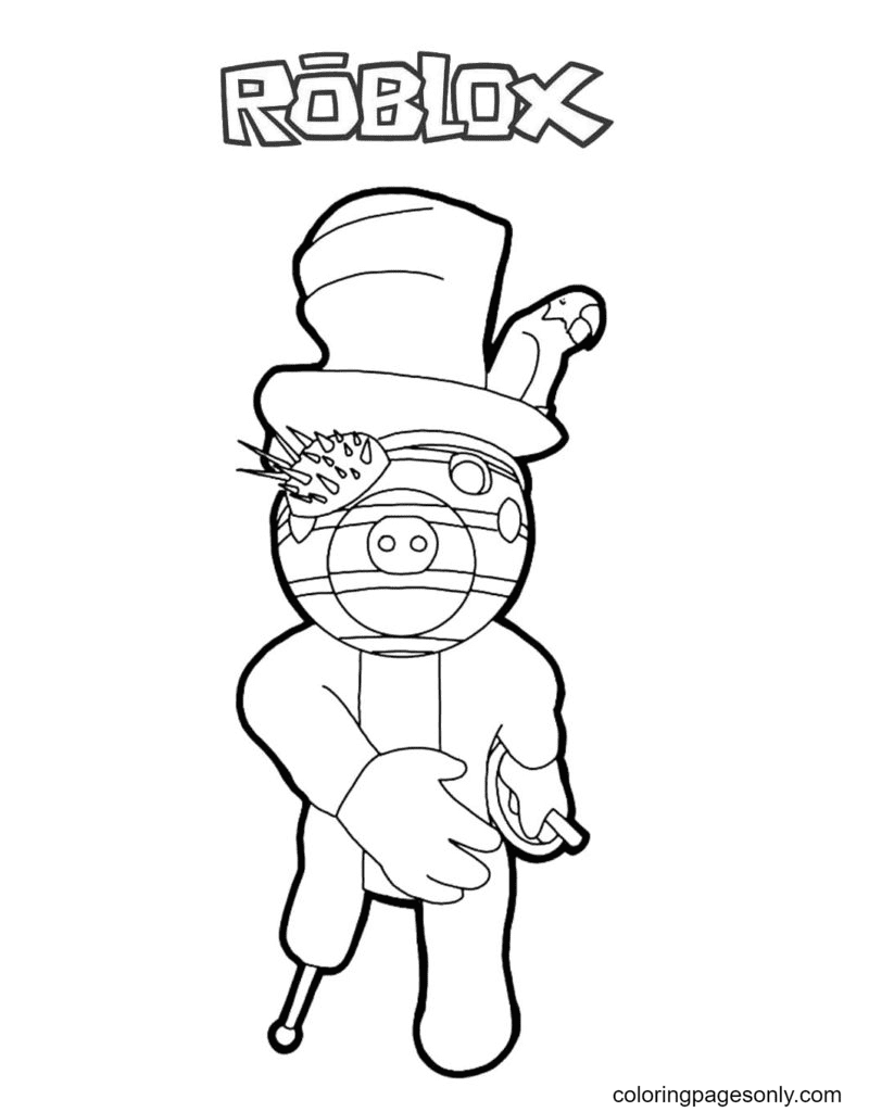 Zack Piggy Coloring Page