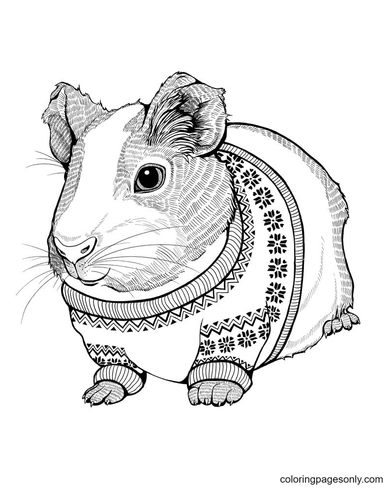 Zentagle Hamster Coloring Page