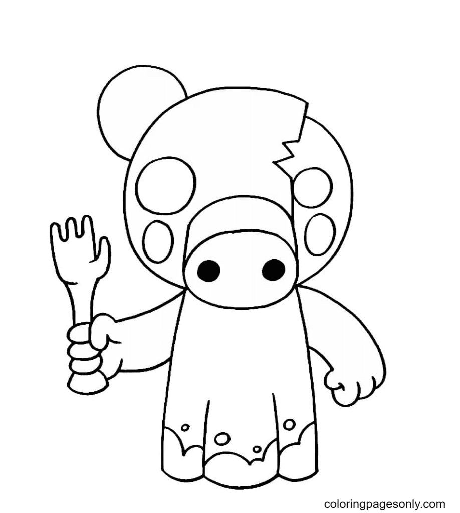 Zompiggy Coloring Page