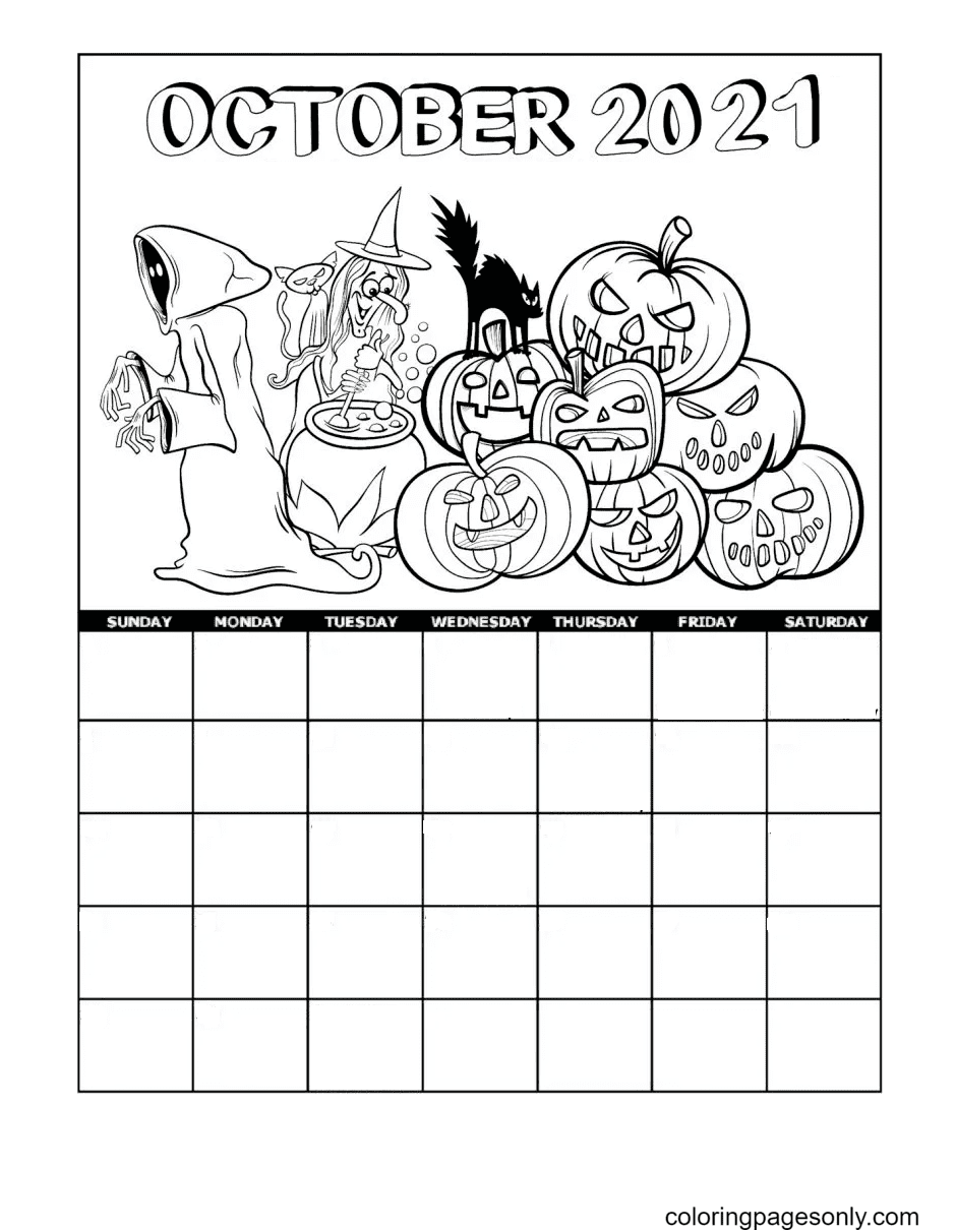 2021 October Coloring Page