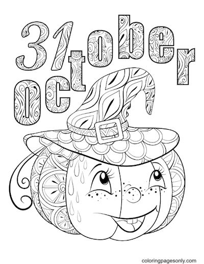 31 October Coloring Page