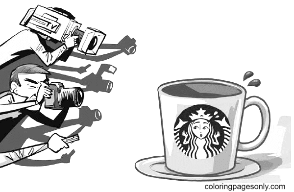 A Glass Of Starbucks Coloring Page