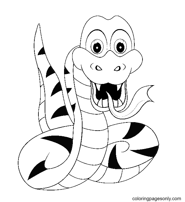 A Snake Coloring Page