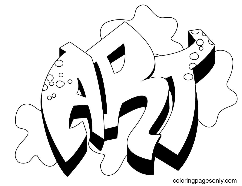 ART Graffiti Coloring Page
