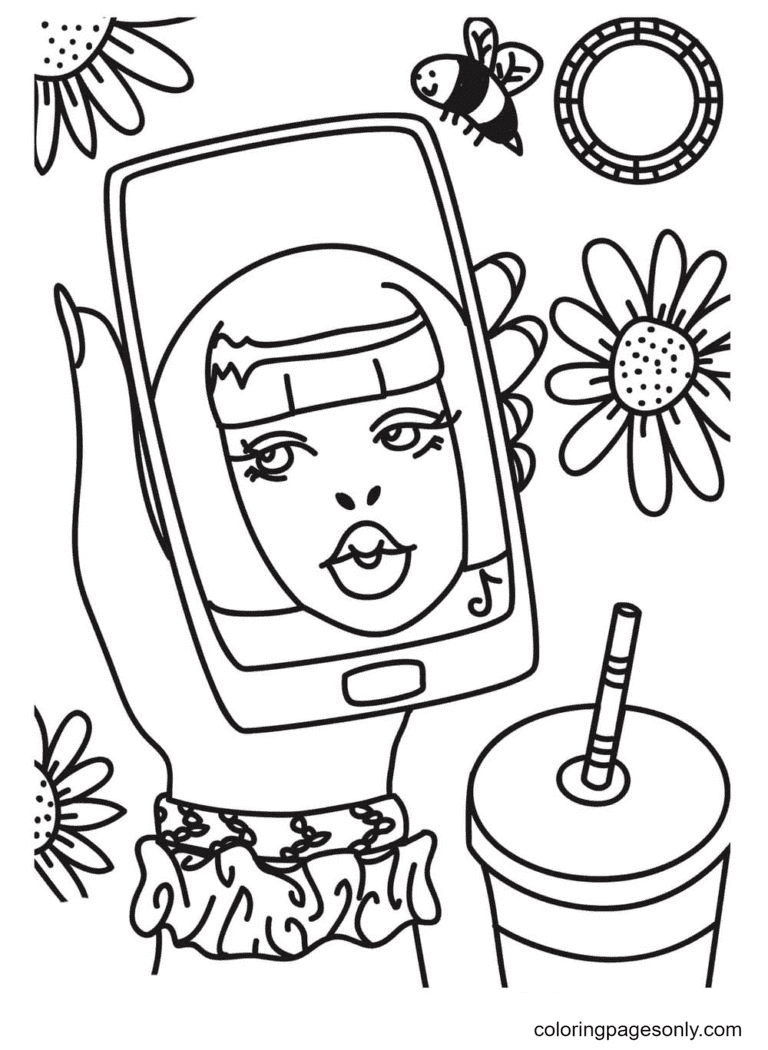 About Aesthetics Coloring Page
