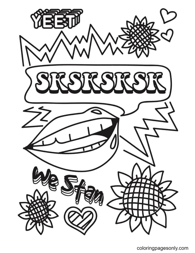 Aesthetic Drawings for Teens Coloring Page